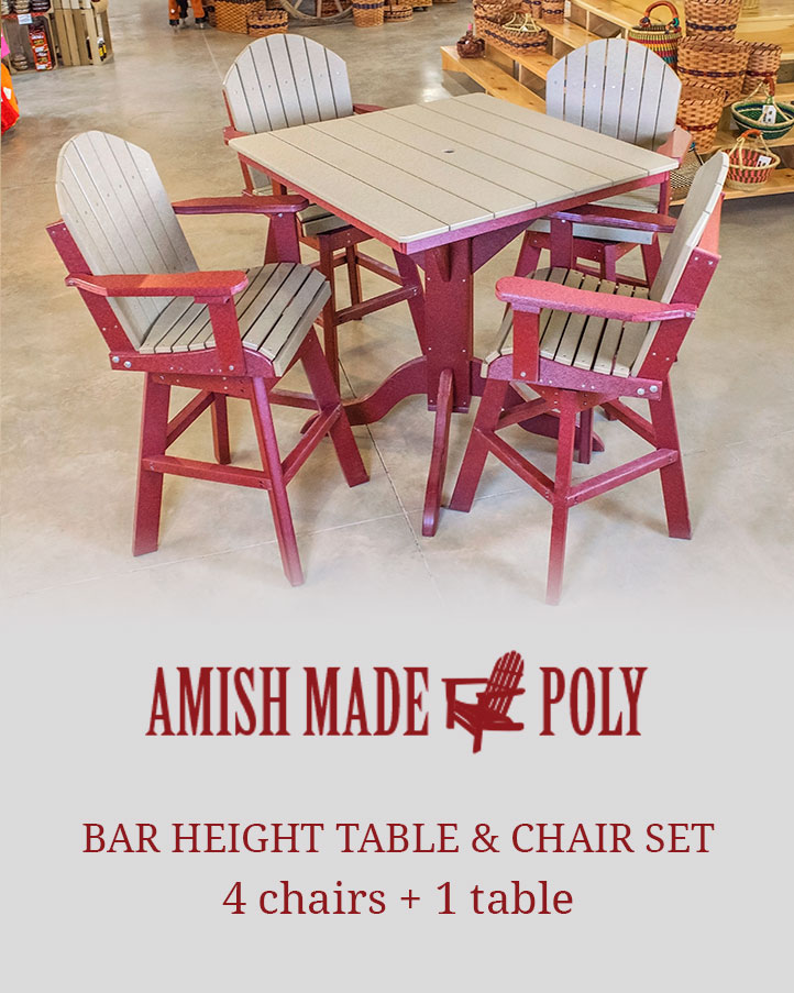Bar Height Table \u0026 Chair Set Packages  sc 1 st  Amish Made Poly & Bar Height Table \u0026 Chair Set - Amish Made Poly