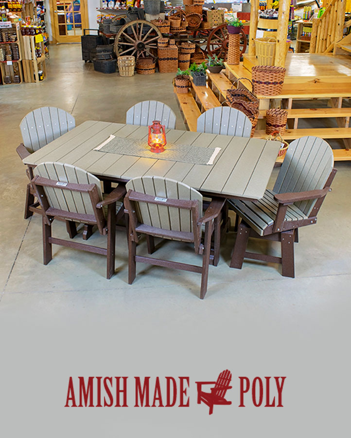 6' dining height table & chair set - amish made poly 6ft Dining Table