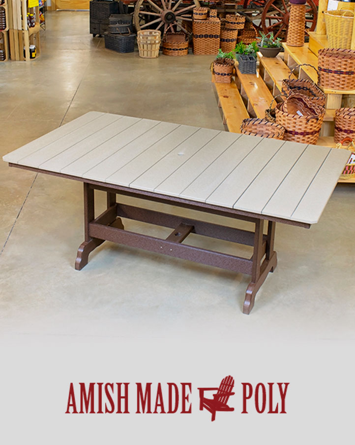 6' dining height table - amish made poly 6ft Dining Table